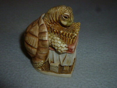 Harmony Kingdom Wishful Thinking Figurine Tortoise Trinket Box England Birthday