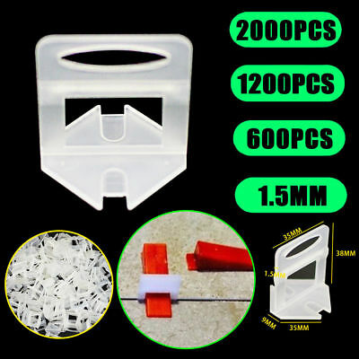 600/2000x Tile Leveling System Clips Kit Levelling Spacer Tiling Floor Wall Tool