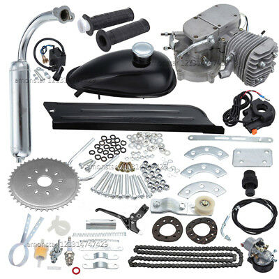80cc Motorised Motorized Bicycle Push Bike 2 Stroke Motor Engine Kit
