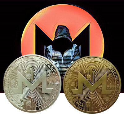 Gold Plated XMR Monero Coins Commemorative Coins Collection Collectable Souvenir
