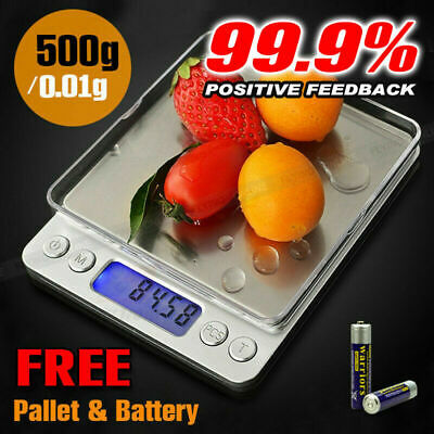 500g/0.01g Kitchen Food Scale Digital Electronic LCD Balance Weight