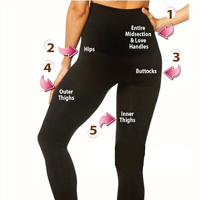 Ladies Womens High Waist Leggings Full Length Seamless Slimming Shapewear