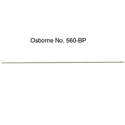 C.S. Osborne & Co. No. 560-SP Pearl + Bead Str. Needles- Size 100mm-Guage 0.75mm