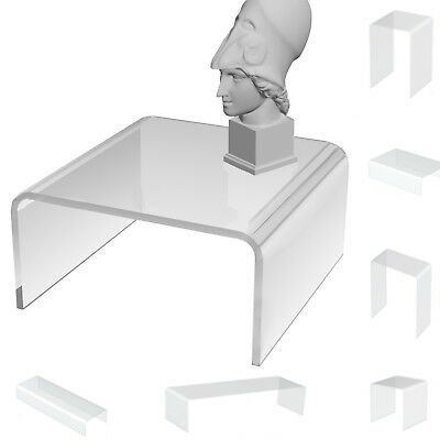 Acrylic Clear Retail Display Stand- Model Cabinet Perspex Plastic Riser- Shelves