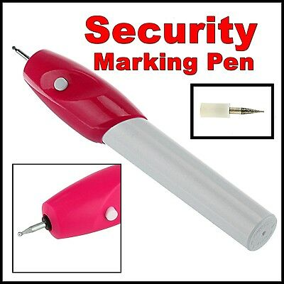 Security Marking Pen Tool Set Identity Security Plate Tag Date Name Title Metal