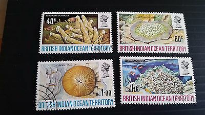 British Indian Ocean Territory 1972 Sg 41-44 Coral Used