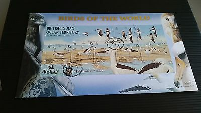 British Indian Ocean Territory 2001 Ms260 Birdlife First Day Cover