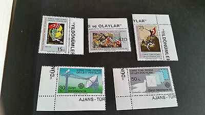 Turkish Cyprus 1983 Sg 135-139 Anniversaries And Events Mnh