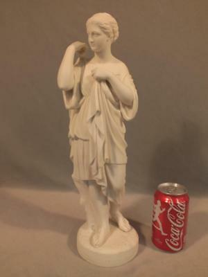 """Rare 1866 Copeland Parian 17"""" Figure Of Diana After Malempre - Crystal Palace"""