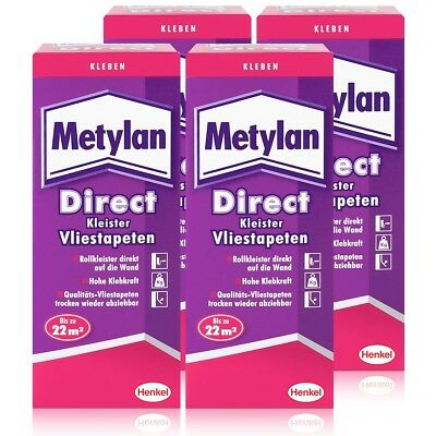 Henkel Metylan Direct Tapetenkleister für Vlies-Tapeten 200g ( 4er Pack )