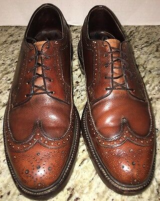 Vtg FLORSHEIM IMPERIAL V CLEAT OXFORD WINGTIP BROWN LEATHER SHOES Sz 8 D #642969