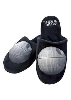 Star Wars Death Star Mens Plush Slippers Uk Size 8 - 10 Official