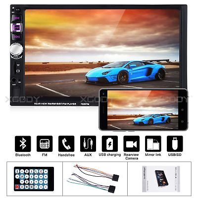 "7"" Car Stereo Radio MP5 MP3 Player USB AUX FM Audio Touch Screen 2DIN Bluetooth"