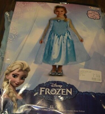New Disney Frozen Princess Elsa Costume Dress Size 3T-4T by Disguise