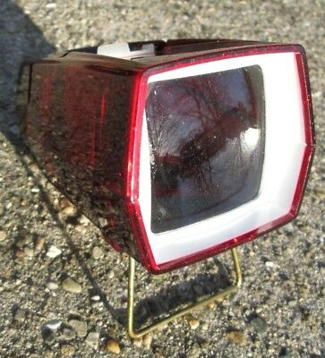 Vintage Sawyers Pana-Vue II Red Sparkly Color Lighted 2 x 2 Slide Viewer