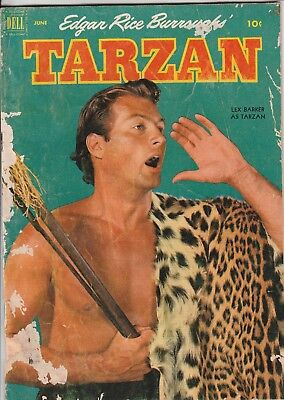 1952 No. 33 TARZAN Vintage Dell Comics  Edgar Rice Burroughs Comic Book 10 Cent