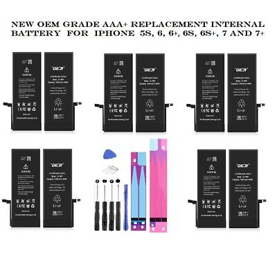 NEW AAA+ Replacement Internal Battery for iPhone 5S, 6, 6+, 6S, 6S+, 7, 7 Plus
