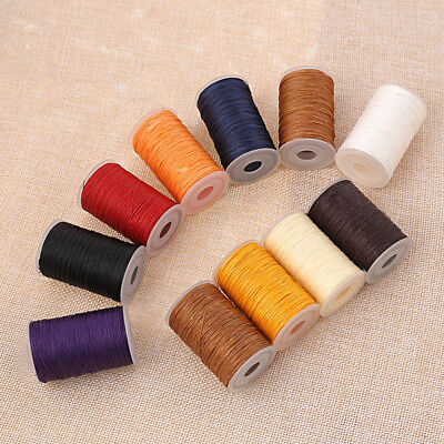 3 Strands 0.45mm Waxed Lined Thread Cord Leather Sewing Hand Stitching Thread