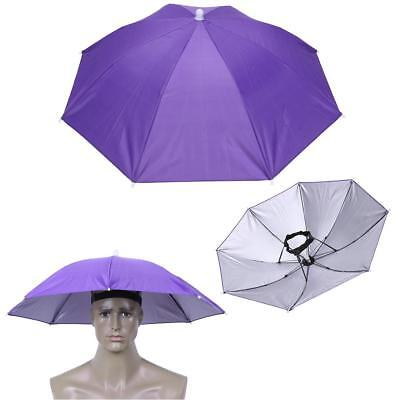90ce52e2745 Foldable Elastic Band Head Umbrella Hat Outdoor Fishing Camping Hiking  Sunscreen