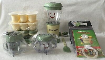 Baby Bullet Baby Food Maker Complete With Extra Short Cup and Silicone Tray