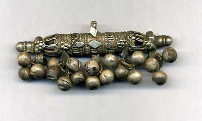 Yemen - Extraordinary old silver amulet - Hirz pendant, from the Middle East,