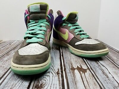 best service 6fa11 2b28a Nike Dunk High 6.0 Womens Multicolor Basketball Sneakers Size 9 342257-531