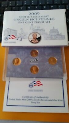 2009 US Mint Lincoln Bicentennial One Cent Proof Set With Box  & COA