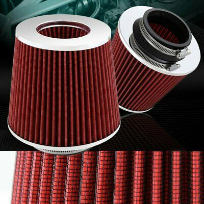 """Universal 2.25/"""" Gray Round Tapered High Flow Gauze Air Filter For Air Intake"""
