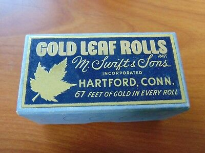 "Silver Leaf Gold Leaf Rolls M Swift & Sons 8 Rolls of 3/8"" x 67'"