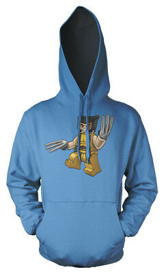 Lego Wolverine X-Men Superhero mash up Kids Hoodie