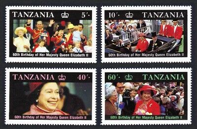 Tanzania Queen Elizabeth II 60th Birthday 4v SG#517-520 SC#333-336