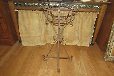 Antique Vintage Wrought Iron Plant Flower Fern Stand #2163P