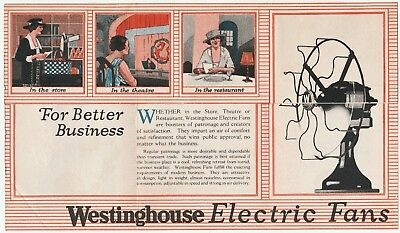 RARE 1920 Westinghouse Electric Fan Advertising Store Brochure Folding Catalog