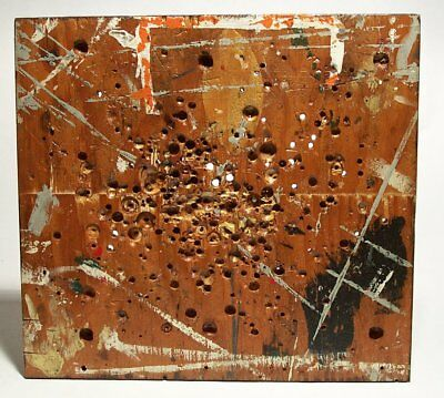 UNFRAMED contemporary painting artwork entitled Drill press board   #2