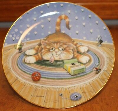 """""""Happiness"""" by Gary Patterson, Comical Cats Collectible Plate Danbury Mint"""
