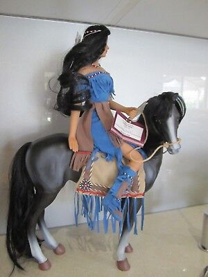 "Aston-Drake ""Reflections of peace""  American Indian Porcelain Doll with horse"