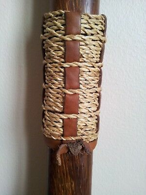 ELEGANT African Cane - Walking Stick - Hardwood and Rope - Africa Old VINTAGE
