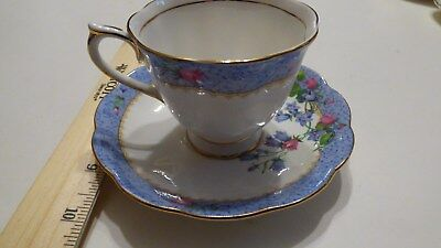 Vintage Royal Albert Hard to Find Blue Harebell Cup & Saucer Set