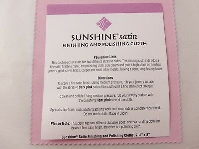 Sunshine SATIN Finishing & Polishing Cloth Jewellery Cleaner Silver Gold Metals