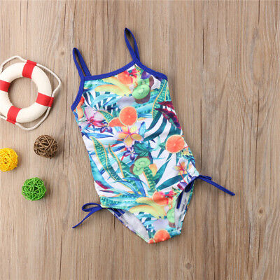AU Kid Baby Girl Floral Tankini Swimwear Swimsuit Bikini Set Bathing Suit Beach