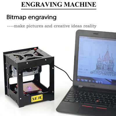 1500mW 350dpi USB DIY Laser Engraving Machine Printer Engraver for iOS/Android