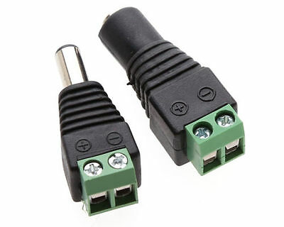 10//20//30Pcs 5.5x2.1mm Male+Female DC Power.Socket Jack Plug Connector Cable 12V