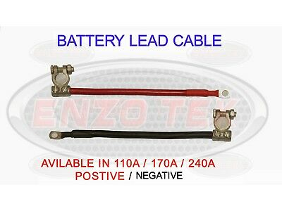 110A POSITIVE EARTH STRAP TWIN BATTERY CABLE SOLENOID CAR MOTOR LEAD BOAT MARINE