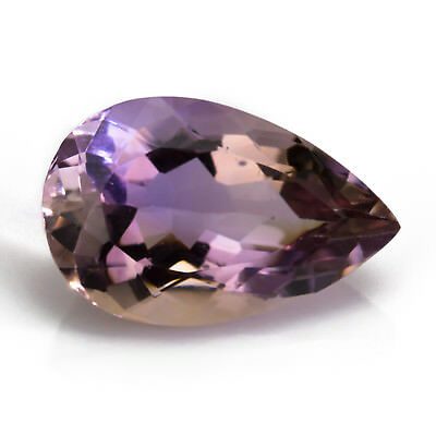17.64ct Large Bolivian Ametrine. Purple and gold with a bright, pear cut.