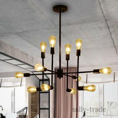 Bar Cafe Restaurant Dining Room Spider Pendant Lamp Hanging Light Chandeliers