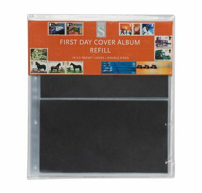 WHSmith First Day Cover Album Refills Pack of 10 Double Sided