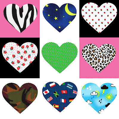Heart Shape Iron/Sew on Knee/Elbow/Applique Patch Crafts/Jeans/Cards Poly Cotton
