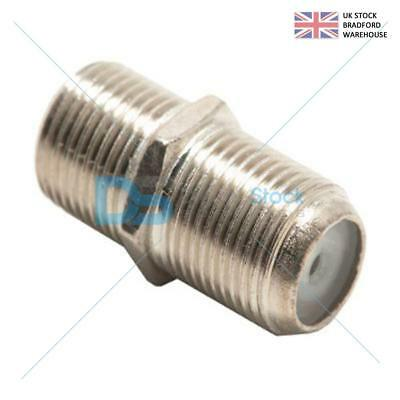 Joiner Barrels Connector F Plug Coupler Adaptor 4 Coaxial Cable RG6- Pack of ...