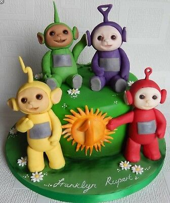 Peachy Teletubbies Figures Fondant Edible Cake Topper Birthday Cake Birthday Cards Printable Nowaargucafe Filternl