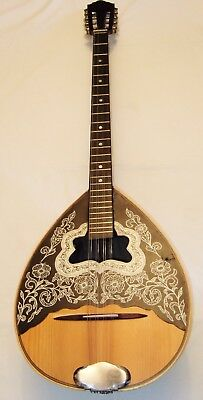 Beautiful old Electro Acoustic Greek Bouzouki in good playing order & condition